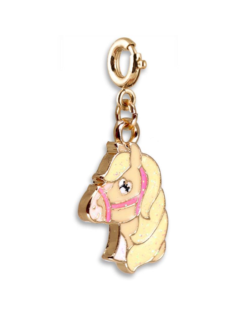 CHARM IT! Gold Glitter Horse Charm