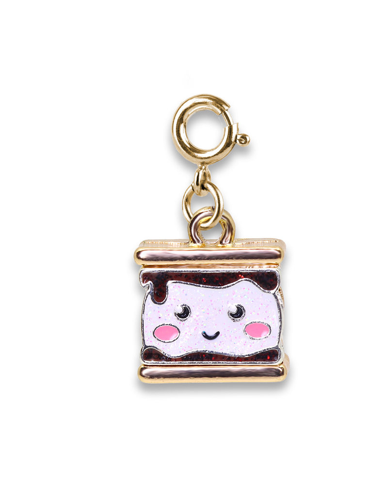 CHARM IT! Gold Glitter S'mores Charm