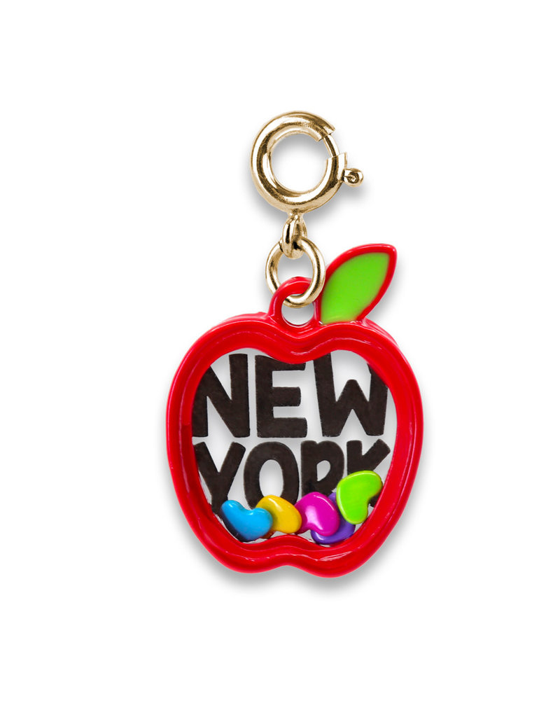 High Intencity Corporation CHARM IT! CHARM IT! Gold New York Apple Shaker Charm