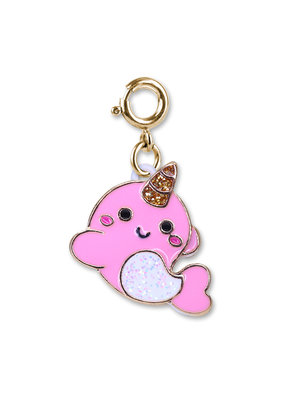 High Intencity Corporation CHARM IT! CHARM IT! Gold Glitter Narwhal Charm