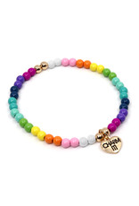 CHARM IT! 4mm Rainbow Stretch Bracelet