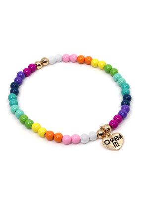 CHARM IT! 4mm Rainbow Stretch Bracelet