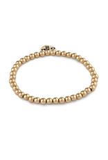 CHARM IT! 4mm Gold Bead Stretch Bracelet