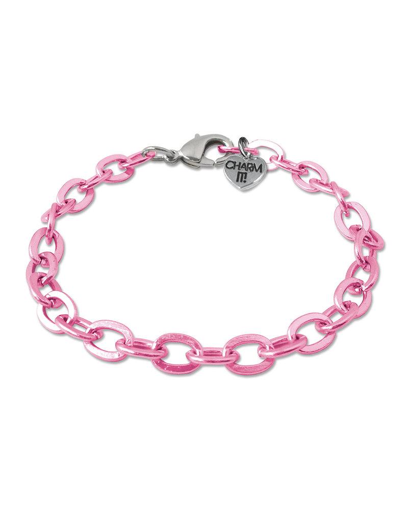 CHARM IT! Pink Chain Bracelet