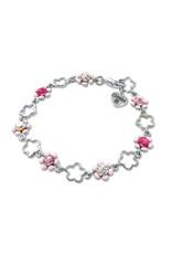 CHARM IT! Pink Flower Bracelet