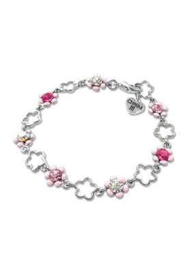 High Intencity Corporation CHARM IT! CHARM IT! Pink Flower Bracelet