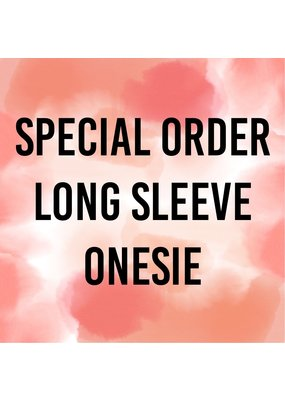 Tracy's Treasures Special Order Long Sleeve Onesie