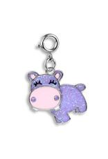 High Intencity Corporation CHARM IT! CHARM IT! Glitter Swivel Hippo Charm