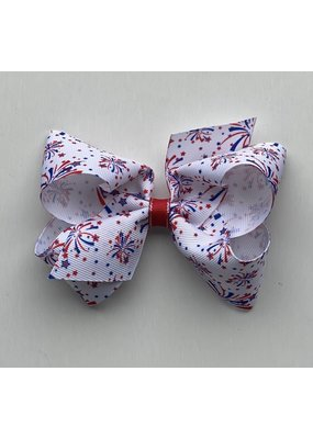 Medium Printed Flag Bow