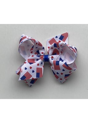 Medium Printed Firework Bow