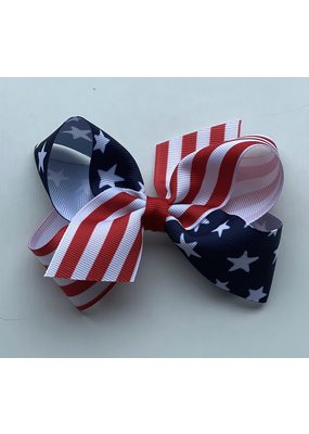 Medium Stars and Stripes Print Bow