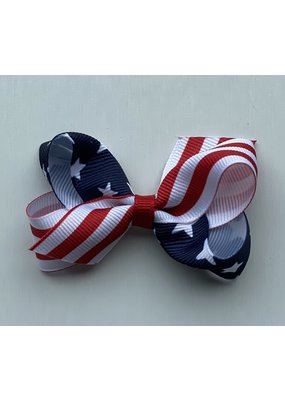 Mini Stars and Stripes Print Bow
