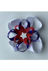 4th of July Layered Bow White Star