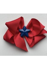 Bows Arts 4th of July Red Bow with Blue Star Charm