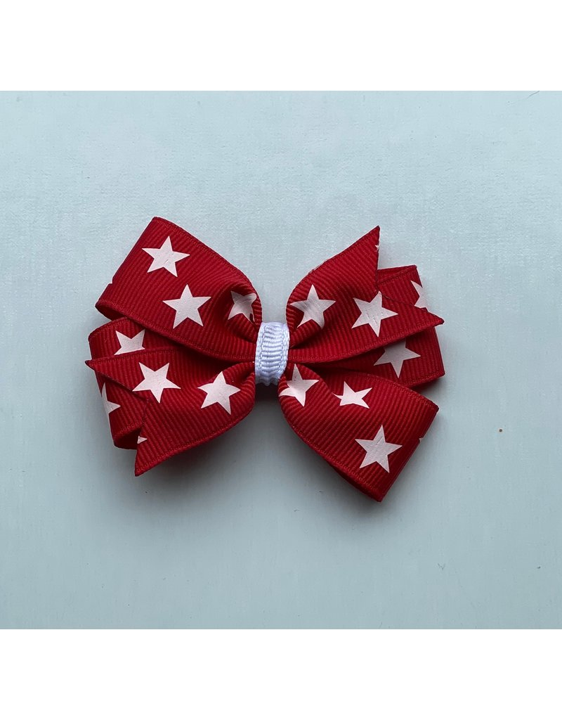 Blooming Petals Boutique 4th of July Small Pinwheel Red Bow