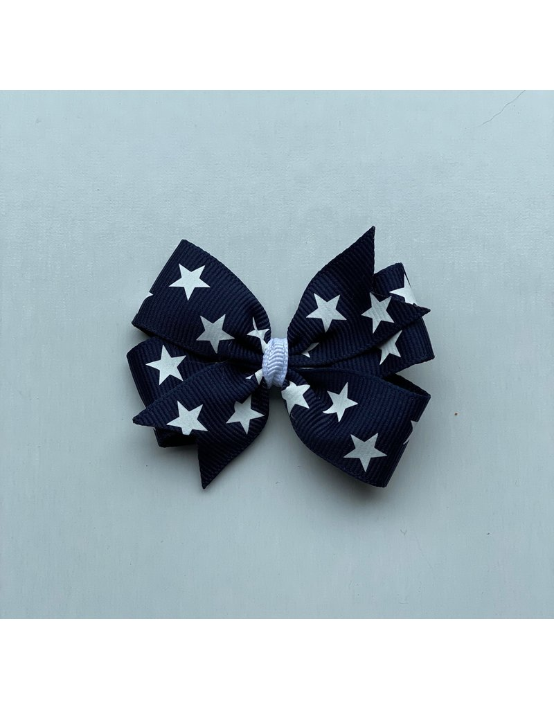 Blooming Petals Boutique 4th of July Small Pinwheel Blue Bow