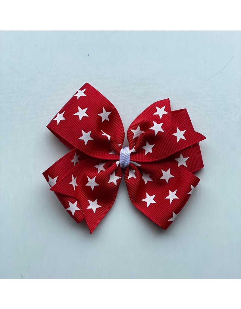 Blooming Petals Boutique 4th of July Large Pinwheel Red Bow