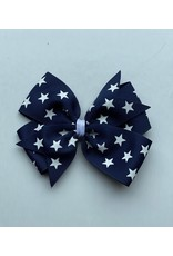 Blooming Petals Boutique 4th of July Large Pinwheel Blue Bow