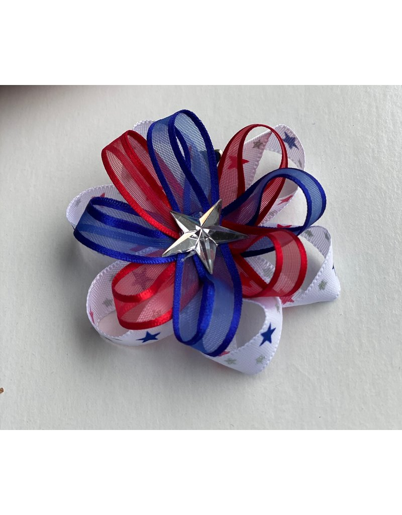 Blooming Petals Boutique 4th of July Large Ribbon Bow