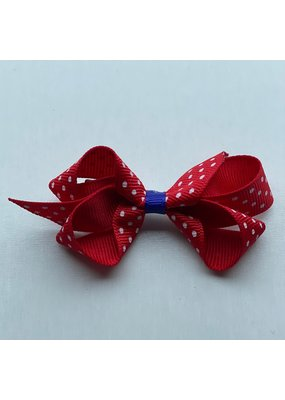 Bows Arts Tiny Red Polka Dot Bow