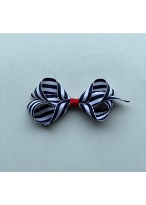 Bows Arts Tiny Navy Stripe Bow
