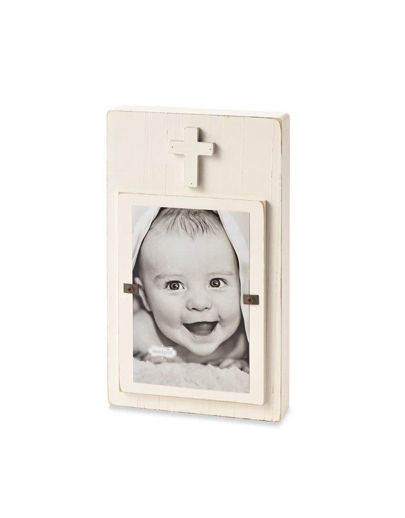 White Cross Block Frame