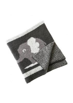 Charcoal Elephant Via Luxe Blanket