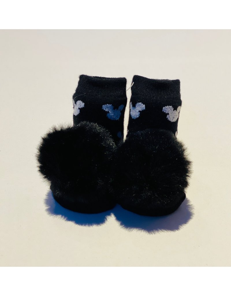 Black Mickey Waddle Socks