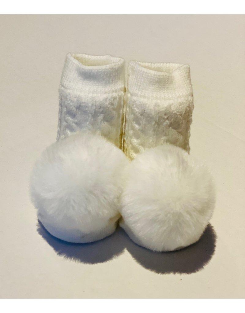 Cream Pom Waddle Socks