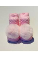 Pink Pom Waddle Socks