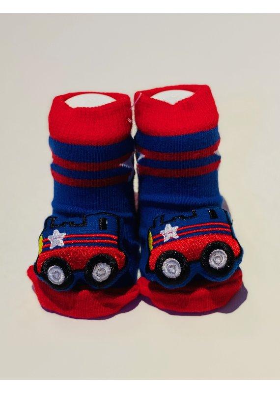 Firetruck Waddle Socks