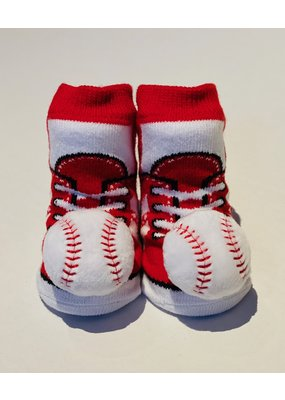 Red Baseball Waddle Socks