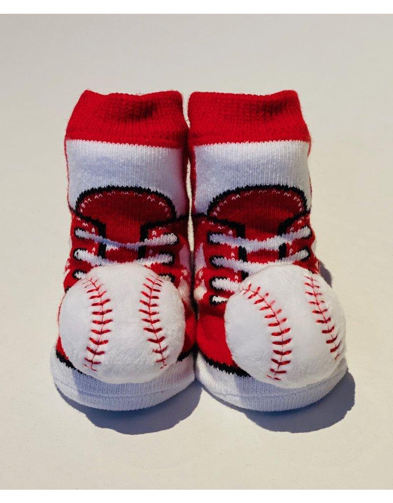 Red Baseball Waddle Socks