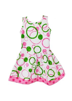 Pink and Green Bubble Dress