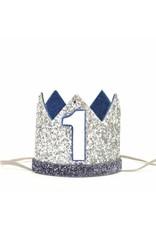 Silver Crown Denim Felt, Navy Trim , #1