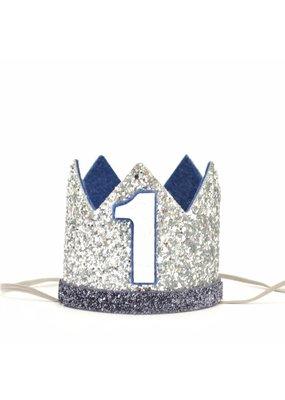 PennyandGigi Silver Crown Denim Felt, Navy Trim , #1