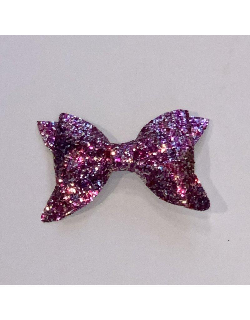 Bows Arts Multi-Pink Glitter Bow Clip