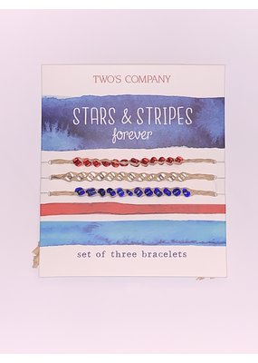 Stars & Stripes Red, White and Blue Bracelet