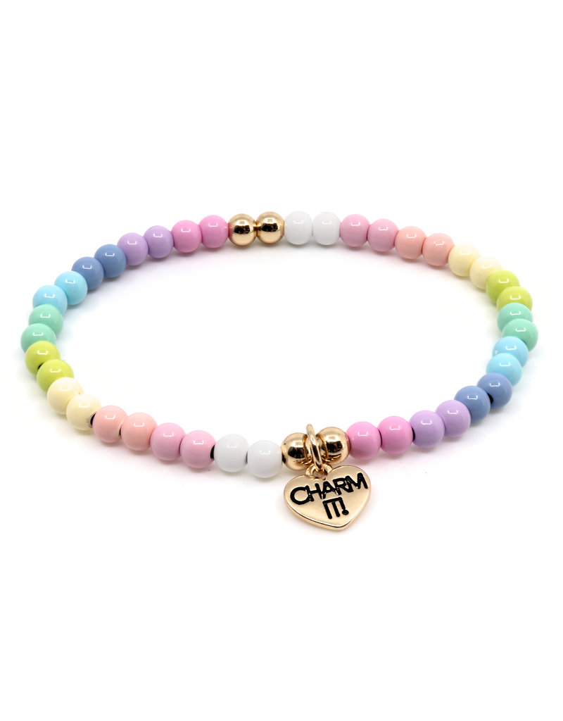 CHARM IT! 4mm Pastel Stretch Bracelet