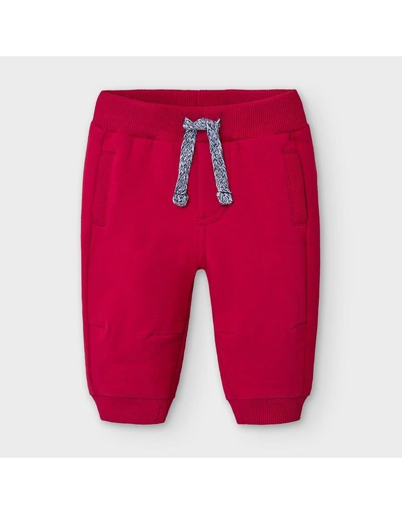 Red Fleece Basic Plush Pants