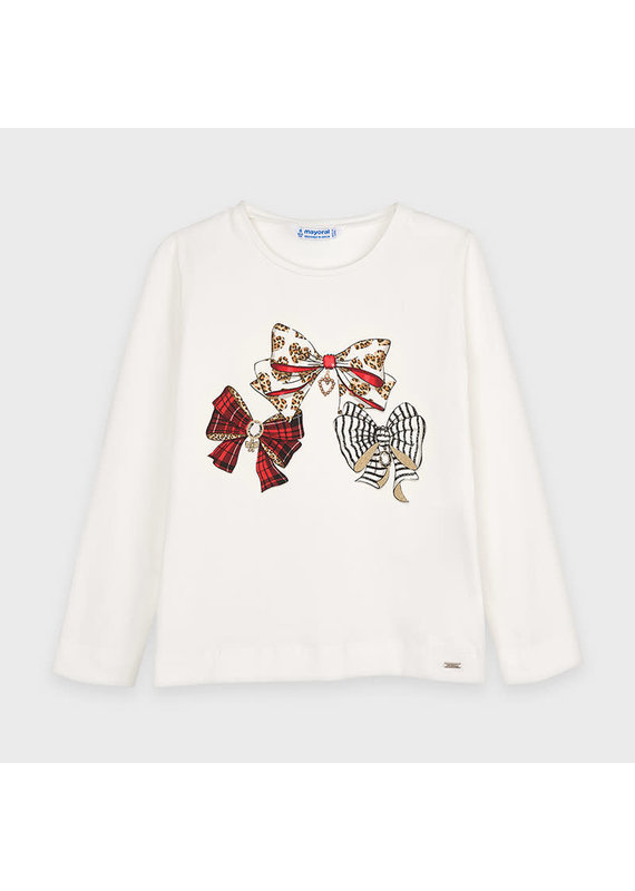 Natural Red Long Sleeve Graphic Shirt