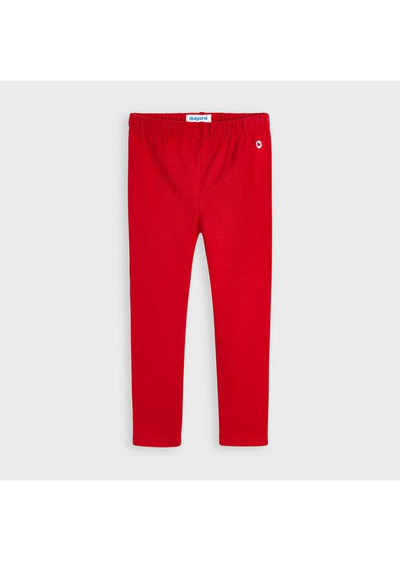 Red Elastane Basic Legging
