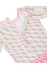 RuffleButts Rainbow Stripe One Piece Rash Guard  2T