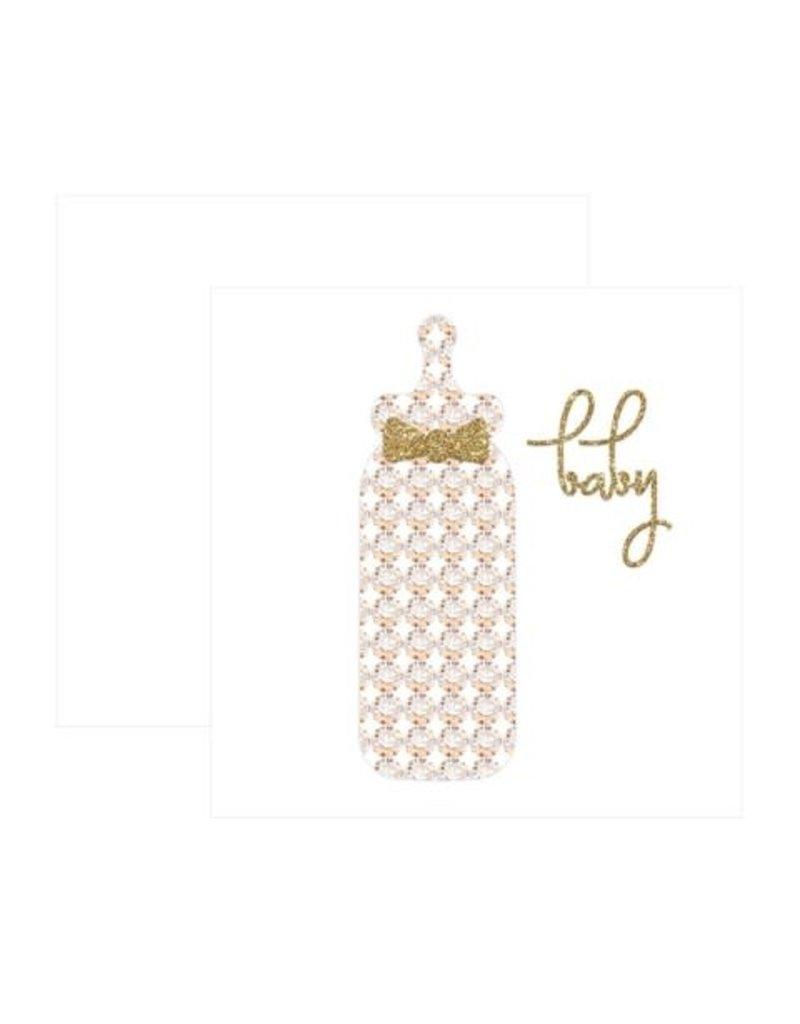 CR Gibson Baby Bottle Card