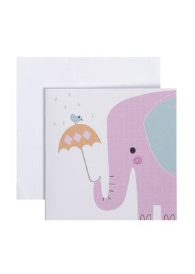 CR Gibson Elephant Shower Card