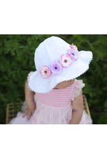 Stella Sun Hat with Mini Rose Crown Pink and Lavender