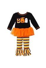 Girls Boo Halloween Tunic & Striped Pant
