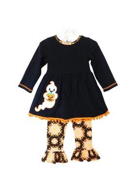 Girls Halloween Ghost Dress & Leggings