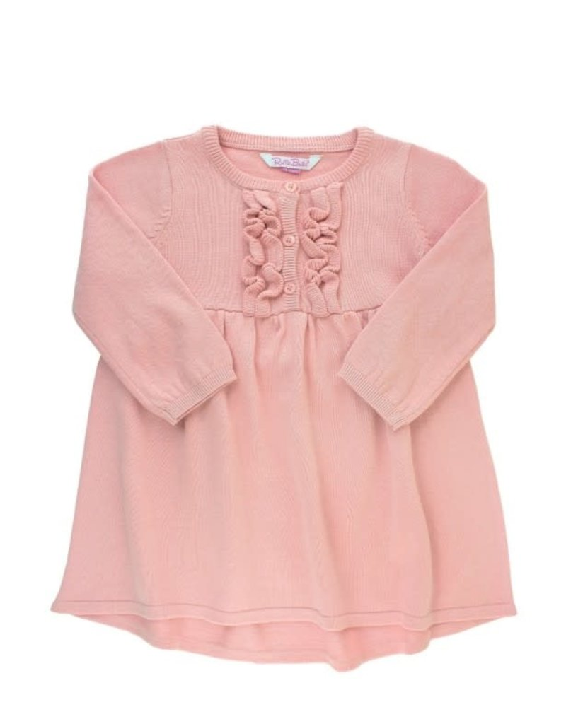 RuffleButts Ballet Pink Sweater Dress Toddler