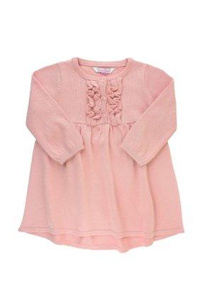 RuffleButts Ballet Pink Ruffle Sweater Dress Infant